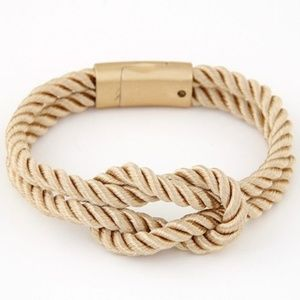Tan Knotted Rope Bracelet
